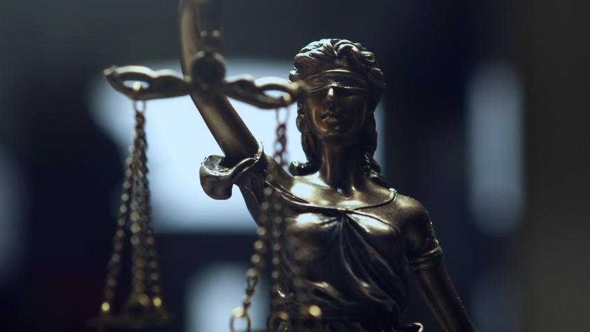 The Statue of Justice - lady justice, Justitia the Roman goddess of Justice Royalty-Free Stock Footage #1063272397
