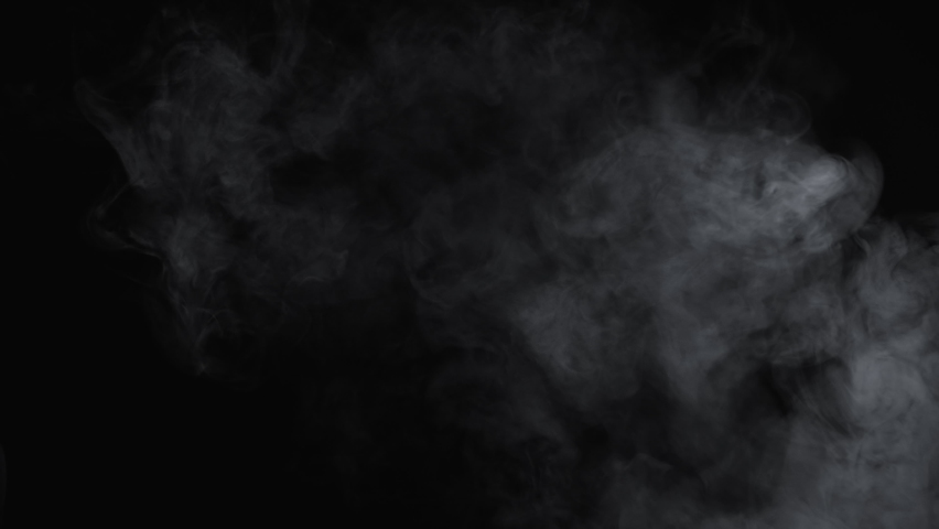 Slow motion video of white cloudy smoke of e-cigarette | Shutterstock HD Video #1063325545