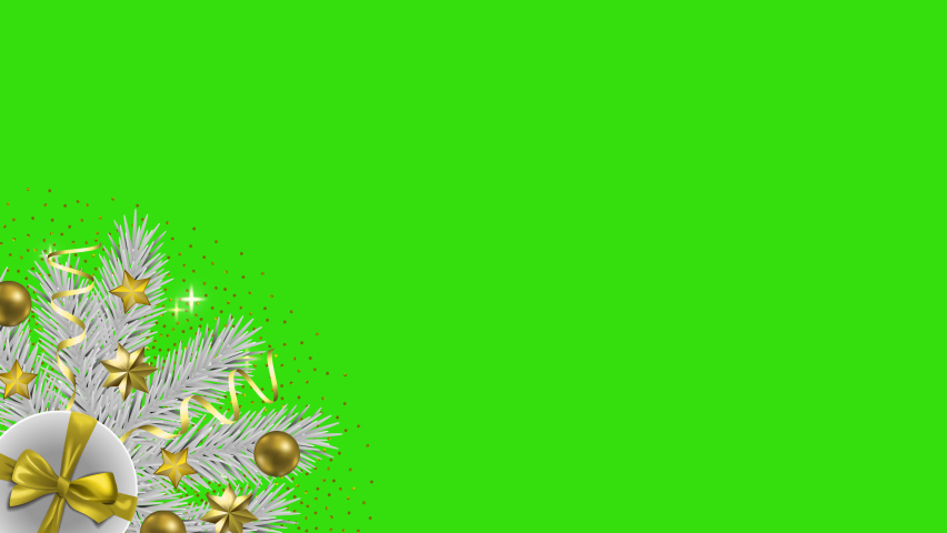Christmas and New Year Greeting looping animation with Alpha Cannel