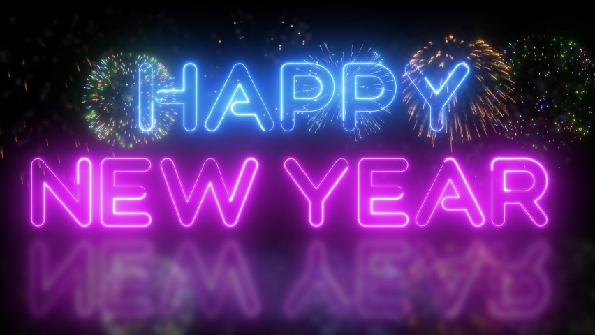 2021 Happy New Year Background colorfully. Christmas background 2021 new year holiday happy birthday new year party background. | Shutterstock HD Video #1063380121