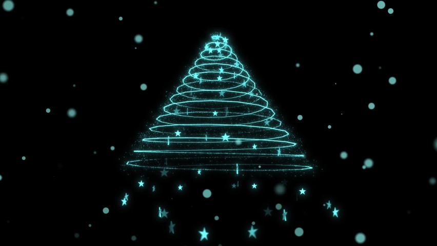 Christmas Tree Merry Xmas Holiday Animation Intro Template | Shutterstock HD Video #1063405141