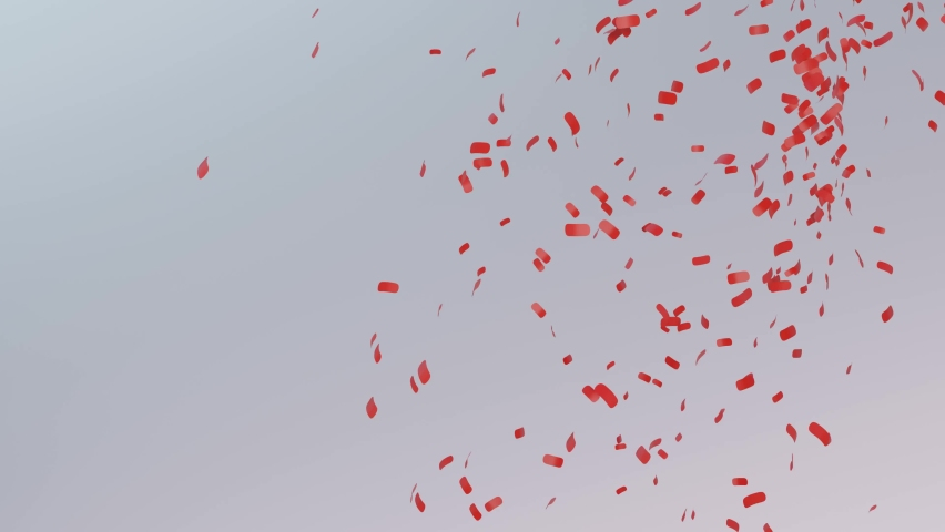 Abstract red particle falling from above, 3d render. | Shutterstock HD Video #1063501177