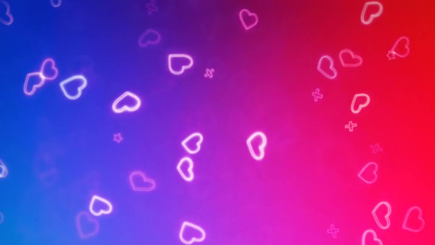 Beautiful Heart and Love background 3d Seamless footage 4K- Romantic colorful Glitter glowing, flying hearts . Animated background for Romance, love, marriage, valentines day and birthday Invitation. | Shutterstock HD Video #1063675768
