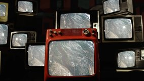 From Pakistan to India seen from Space on Retro TVs. Elements of this Video furnished by NASA.