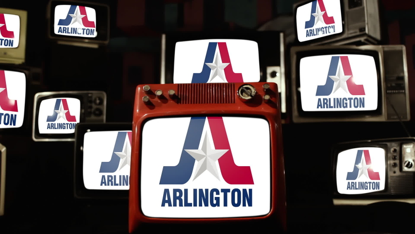 Flag of Arlington, Texas, and Vintage Televisions.