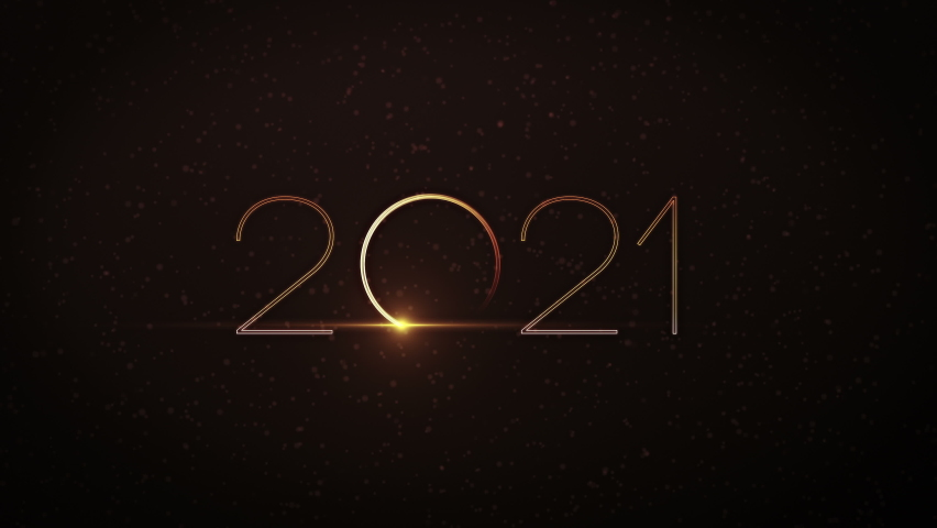 Happy New Year 2021 video animation with dynamic particles Royalty-Free Stock Footage #1063776640