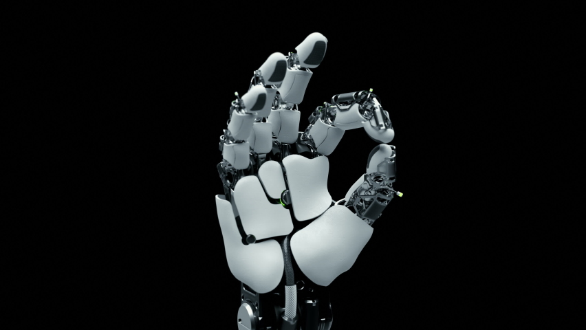 Close-up Part of Robotic Arm which Learn Visualization Symbol Ok. Training Robot Hand Moving in Laboratory Industry Four. Contemporary Concept Ai Programming Control Technology Hardware Manipulator Royalty-Free Stock Footage #1063850542