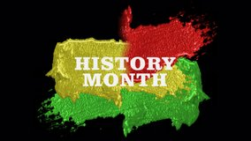 Black history month pack of resources. Backgrounds, elements, transitions, title. Red, green and yellow combinations. Improve your video with these cool visuals