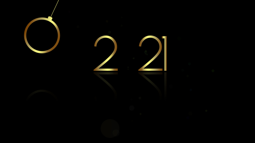 New Year 2021. Happy New Year. Animation with golden numbers on the background of flying balls. | Shutterstock HD Video #1063882150