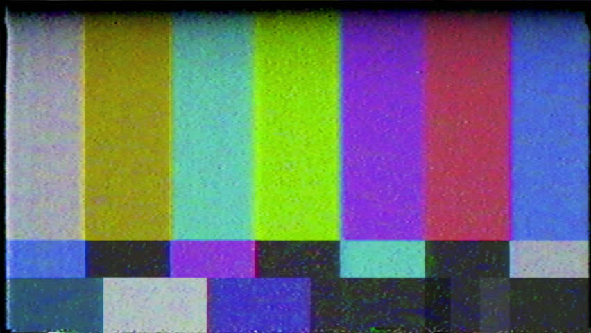 Color Bars with retro static VHS effect - 4K