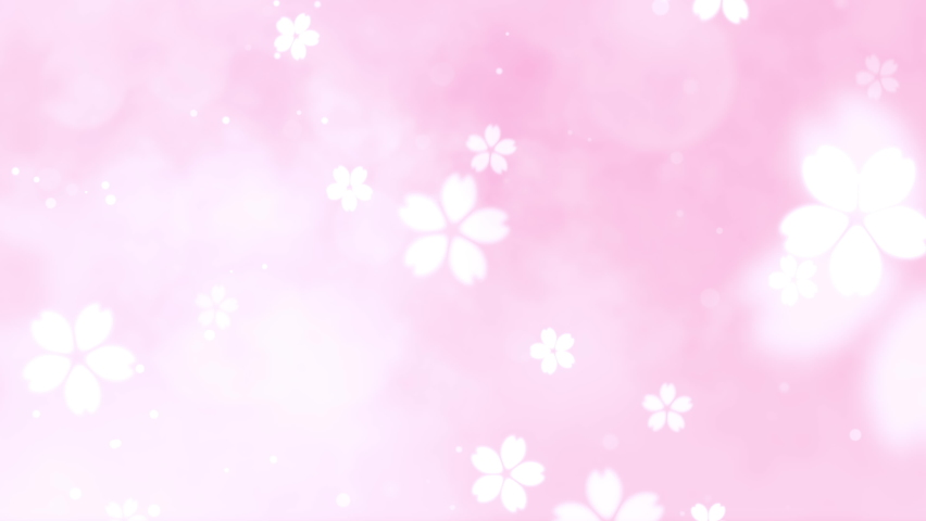 Dancing cherry blossoms. Pink sparkling background. A background video suitable for celebrations such as Valentine's Day and weddings. Royalty-Free Stock Footage #1063962466