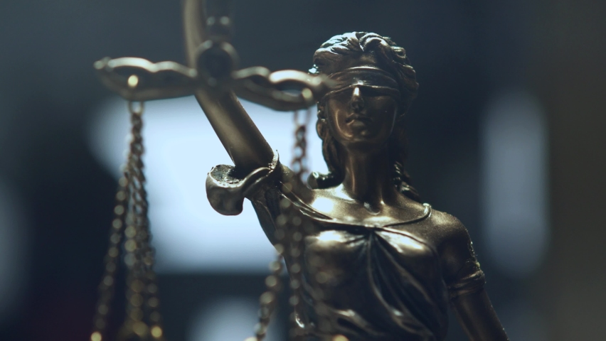 The Statue of Justice - lady justice, Justitia the Roman goddess of Justice Royalty-Free Stock Footage #1063998655