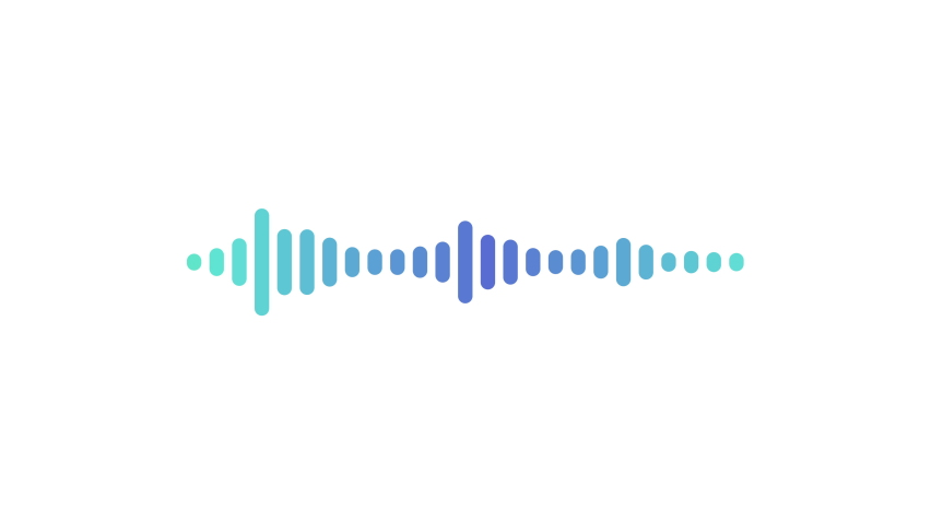 Sound wave or frequency digital isolated on white background. pastel color digital sound wave equalizer. Audio technology wave concept and design under the concept of pastel color emphasize simplic Royalty-Free Stock Footage #1064188900