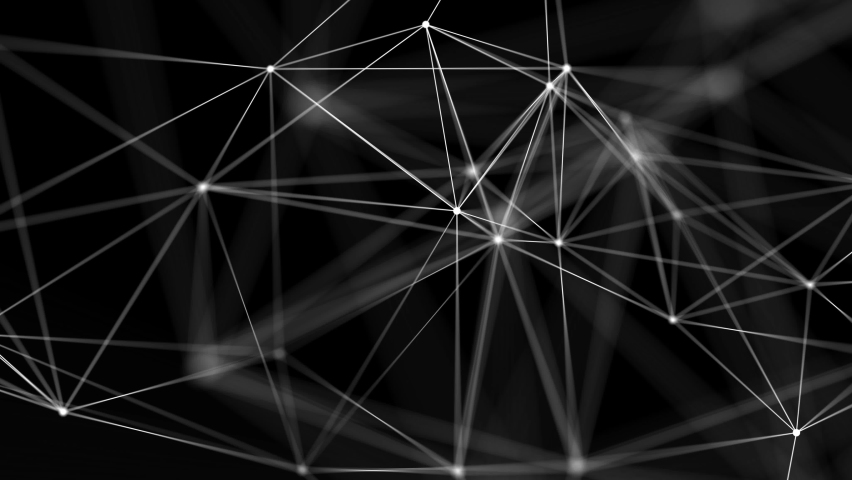 4k Lexus fantasy abstract technology. Abstract geometric Loop background with moving lines, dots and triangles. Science, medicine and technology. Digital Research and Medical Technology Connection. Royalty-Free Stock Footage #1064193853