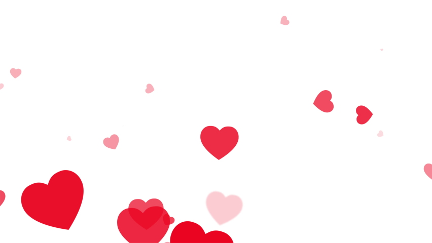 Red Hearts motion for Valentine's day Greeting love video. 4K Romantic looped animation on white background for Valentine's day, St. Valentines Day, Mother's day, Wedding anniversary invitation e-card Royalty-Free Stock Footage #1064342389