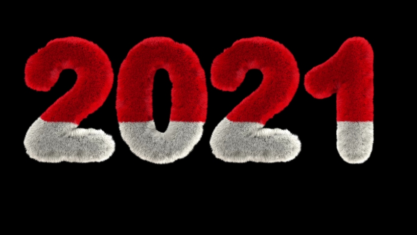 Bouncing Santa Hary text with forming the word 2021  | Shutterstock HD Video #1064432341