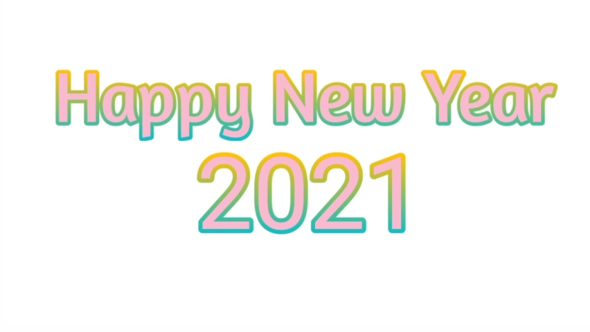 Baground happy new year 2021 newest and best | Shutterstock HD Video #1064525653
