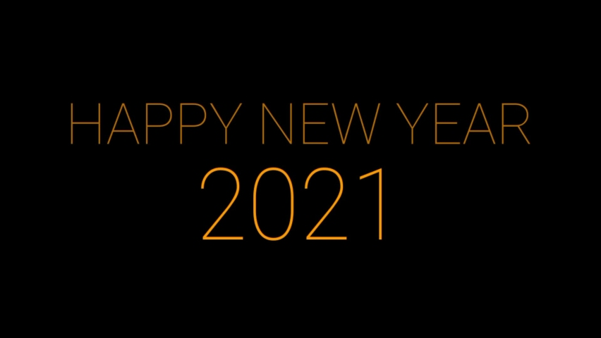 Black baground, the latest and modern model with an attractive happy new year gold ink color writing | Shutterstock HD Video #1064614468
