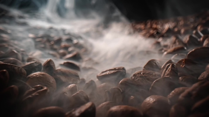 Close up of seeds of coffee beans | Shutterstock HD Video #1064619469