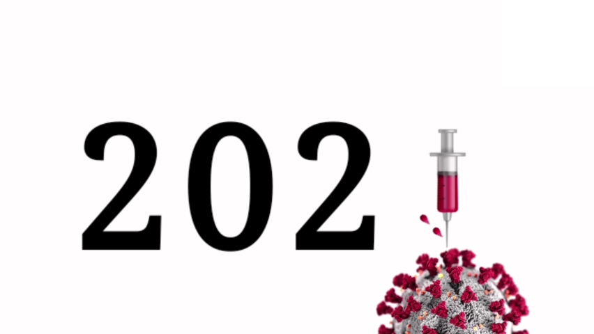 2021 new year with COVID-19. New year with COVID-19 concept. 2021 new year with coronavirus. 2021 new year. 2021. | Shutterstock HD Video #1064637565