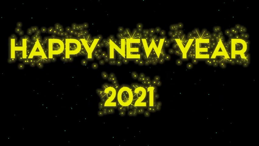 Baground happy new year 2021 with fireworks flying | Shutterstock HD Video #1064701858