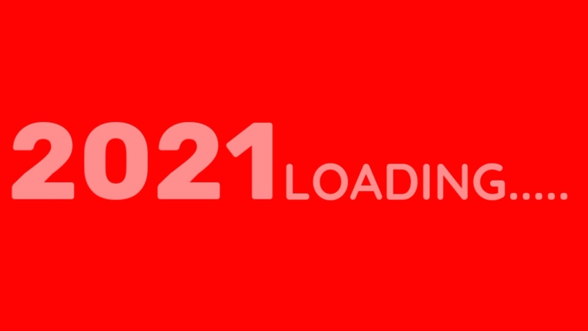 Baground red and white welcome 2021 loading newest | Shutterstock HD Video #1064767519