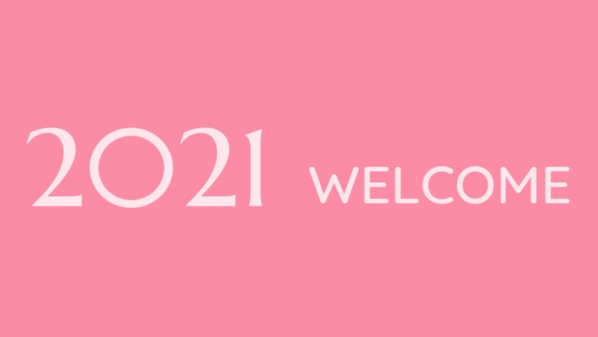 Baground light pink and white welcome 2021 update and popular | Shutterstock HD Video #1064771755