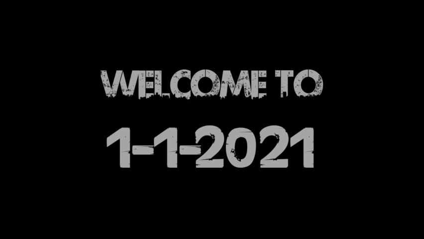 Baground black and white welcome to 1-1-2021 modern and best | Shutterstock HD Video #1064805286