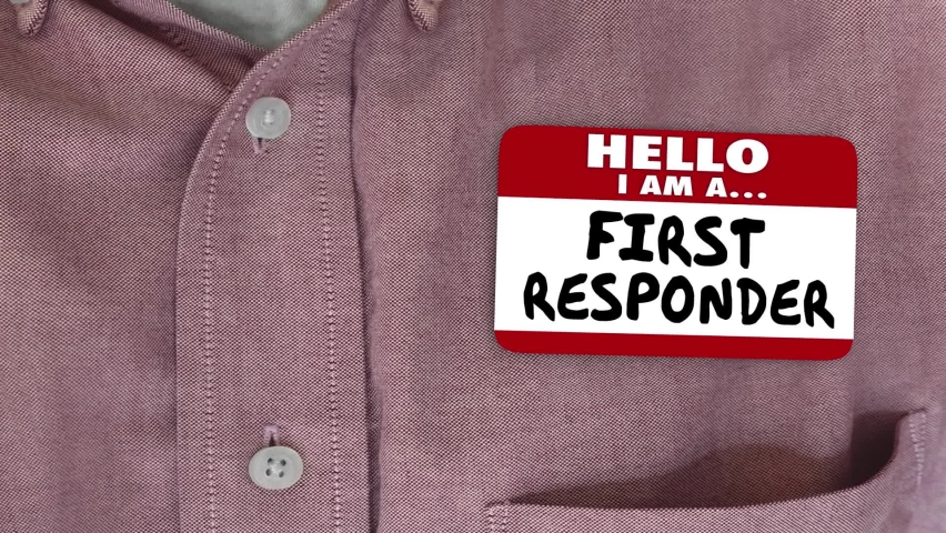 First Responder Name Tag Emergency Health Care Worker Employee 3d Animation