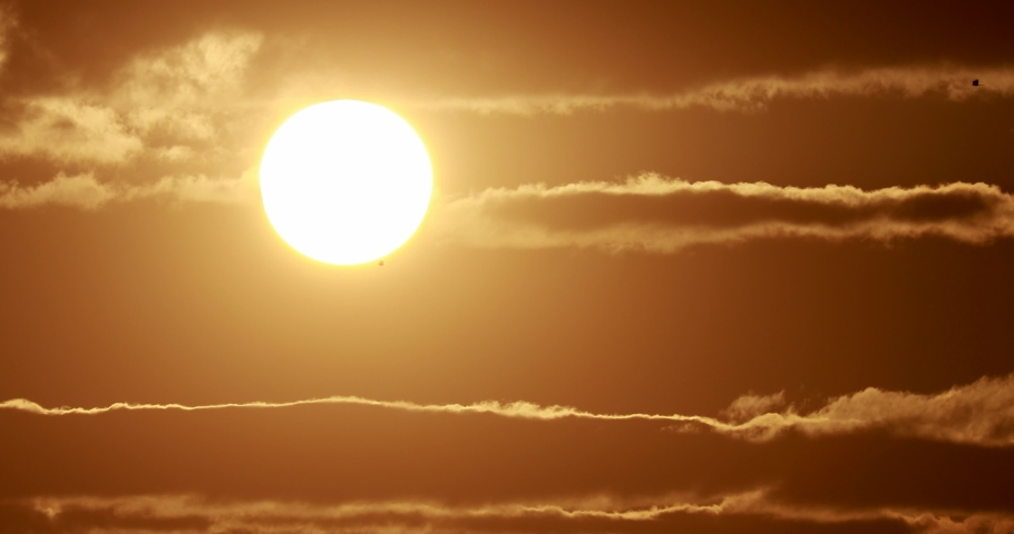 Sun evening environment time lapse cloud  Royalty-Free Stock Footage #1064832613