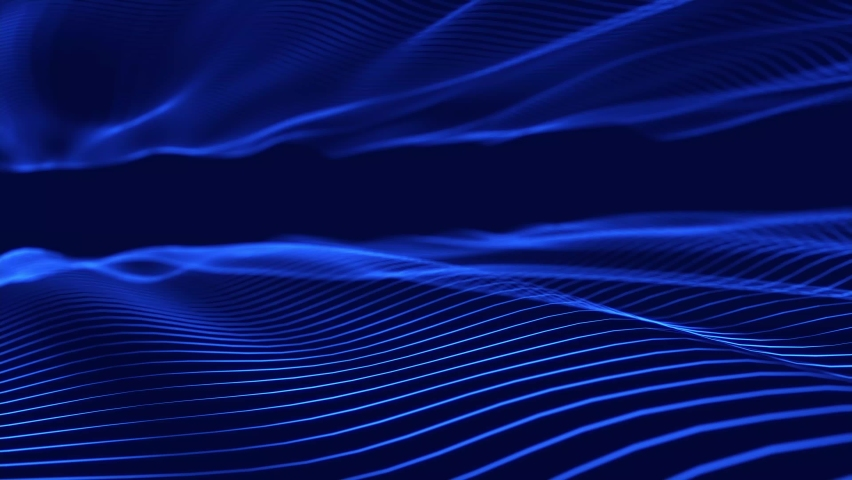 Dynamic wave. Digital technology background. Big data visualization. Science background. 3d rendering. Seamless loop. 4k Royalty-Free Stock Footage #1064843275