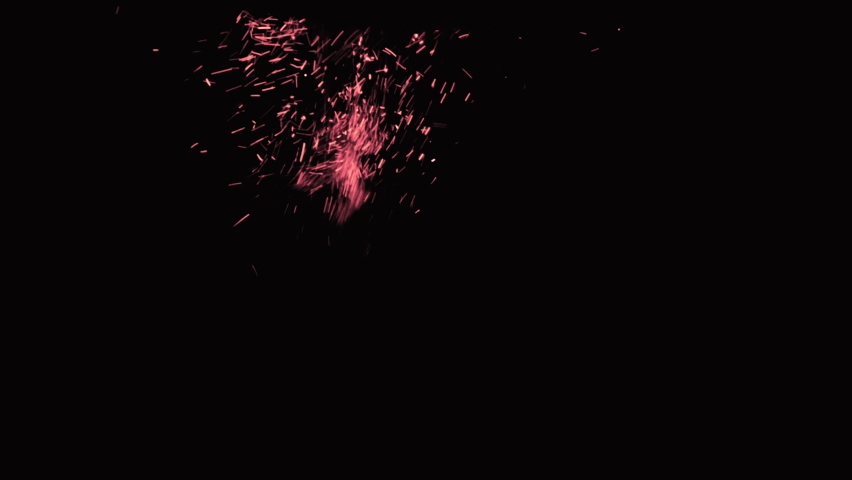 Burning Sparks Video effect, sparks isolated on black background | Shutterstock HD Video #1064933584