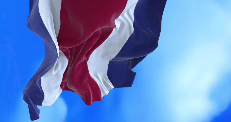 Seamless loop of Costa Rican flag. | Shutterstock HD Video #1065054049