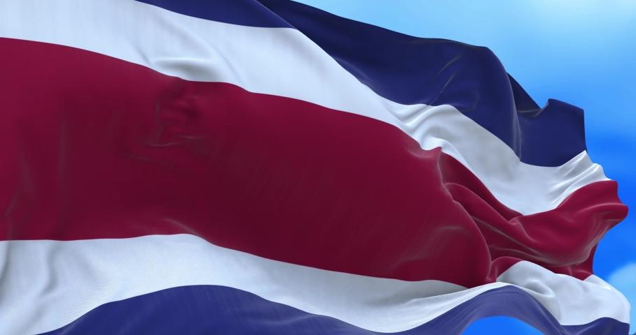 Seamless loop of Costa Rican flag. | Shutterstock HD Video #1065054052
