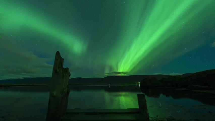 Northern Lights Polar Aurora Iceland, Norway, Finland 4k Video Aerial View   Shutterstock HD Video #1065085126