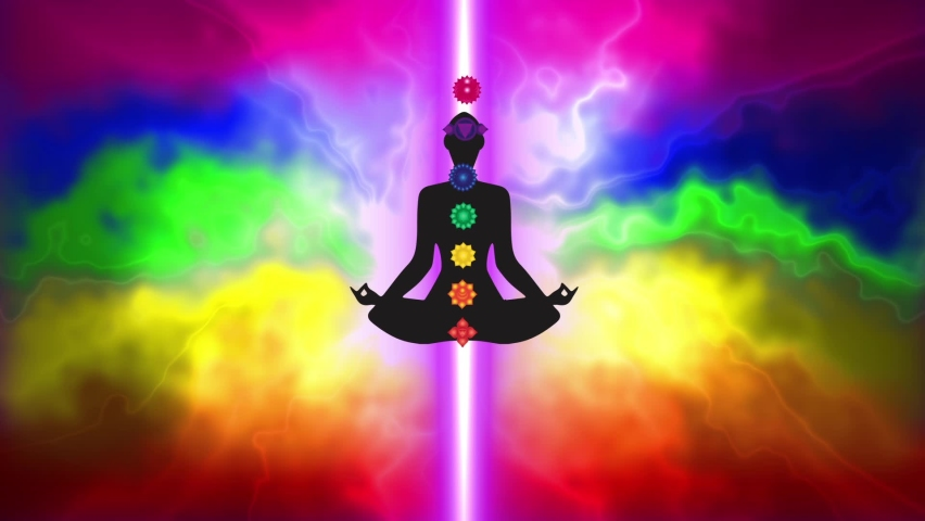 Meditation opens all the chakras and balances the energy of the chakras in the body | Shutterstock HD Video #1065216730