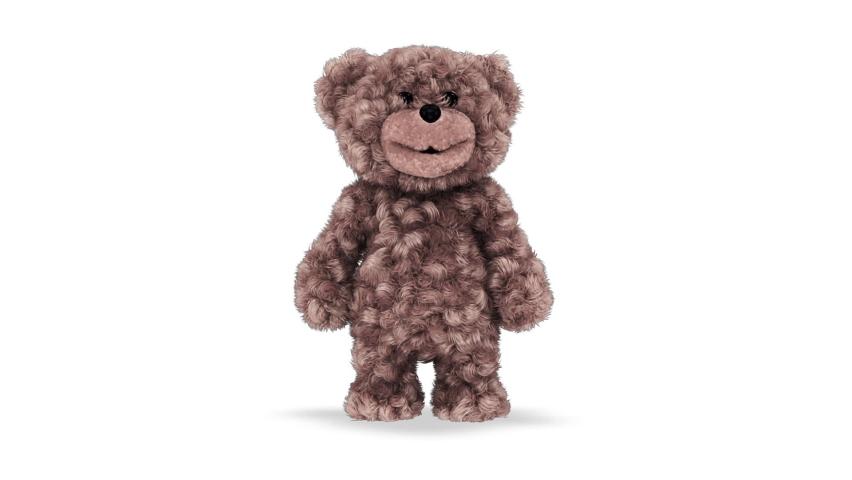 3d Teddy Bear Dancing Loop on White Background