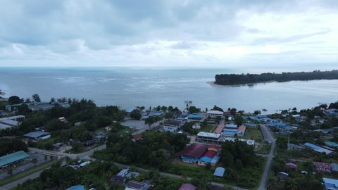 The Sematan Beach and Coastline of the most southern part of Sarawak and Borneo Island