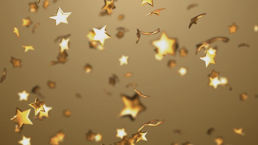 A star confetti with a depth of field. | Shutterstock HD Video #1065366409