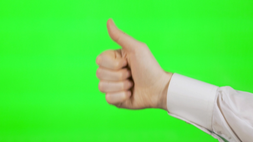 The Gesture Like, The Gesture A Thumbs Up. The Man Gives A Thumbs Up. Symbol Of Success, Excellent, All Is Well.