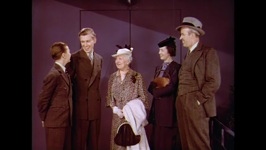 CIRCA 1930s - A family visits the son of a hometown family friend who is working at the 1939 New York World's Fair.