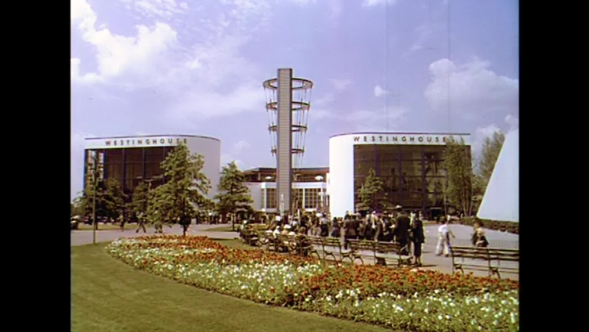 CIRCA 1930s - Shots of the grounds at the 1939 New York World's Fair.