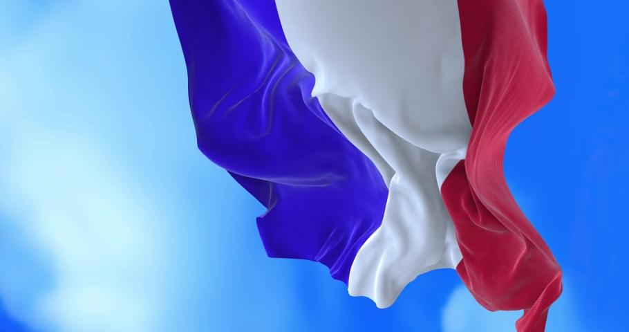 Seamless loop of France flag.   Shutterstock HD Video #1065600169