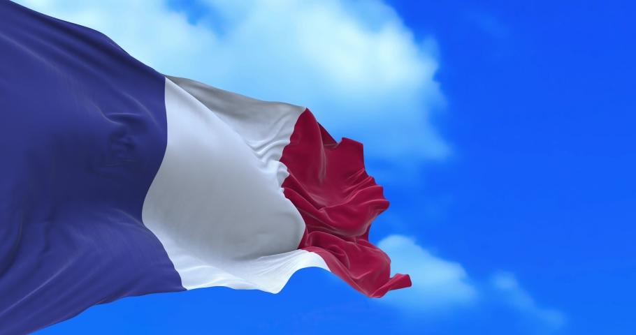 Seamless loop of France flag.   Shutterstock HD Video #1065600325
