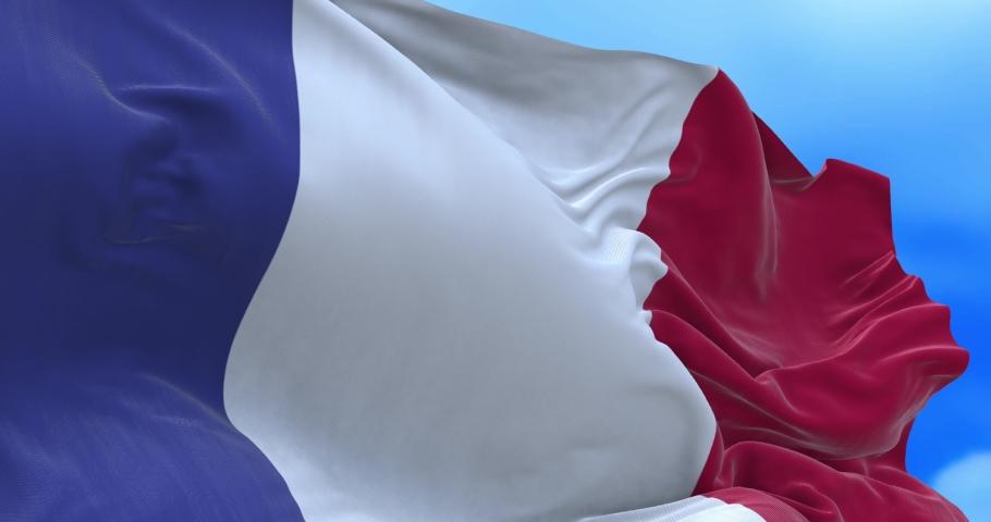 Seamless loop of France flag.   Shutterstock HD Video #1065600328
