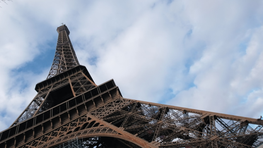 Video about the tour Eiffel captured from the bottom   Shutterstock HD Video #1065601966