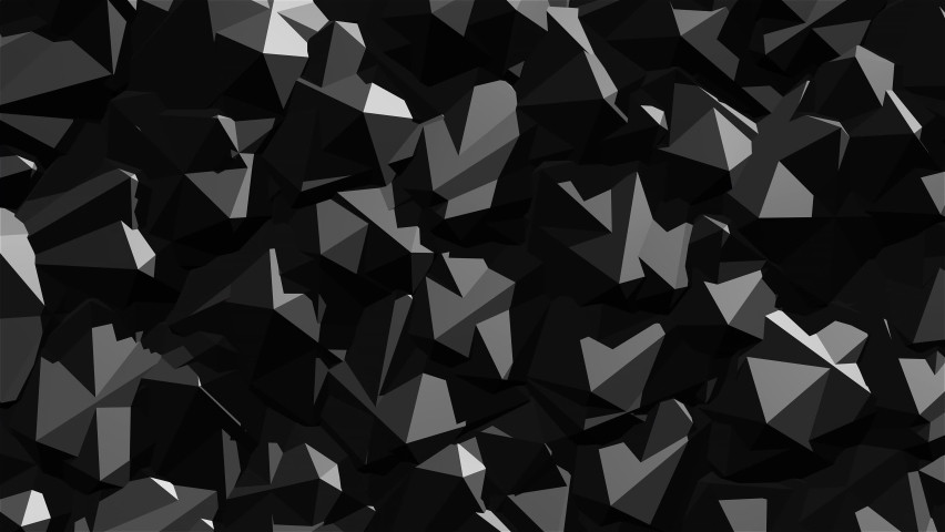 Animated background from many black Icosahedrons rotating around its axis in different directions. Perfectly looped. | Shutterstock HD Video #1065614728