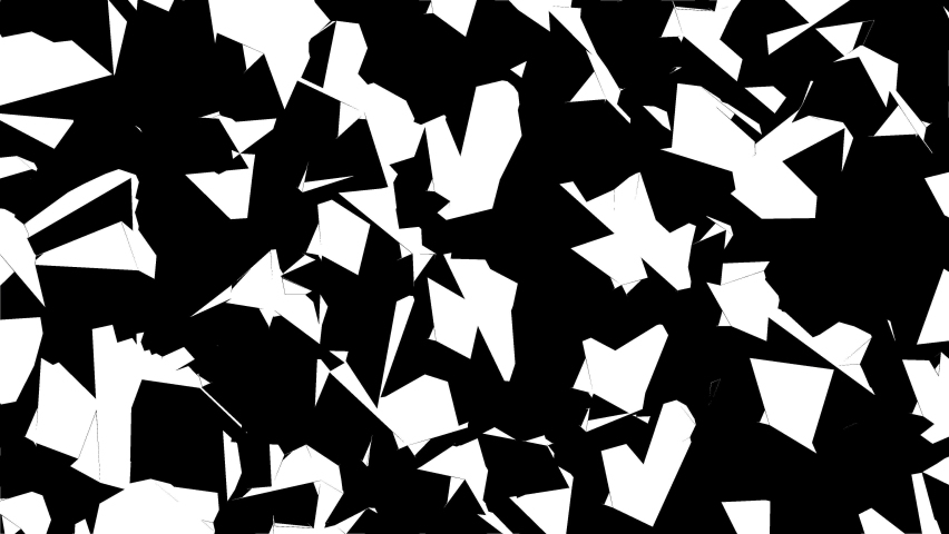 Animated background from many black  white Icosahedrons rotating around its axis in different directions. Perfectly looped. | Shutterstock HD Video #1065614749