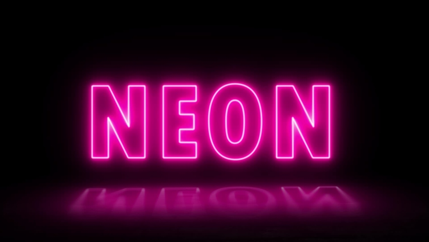 Neon neon sign banner background for promo video. Text neon lights animation promote advertising next business concept. | Shutterstock HD Video #1065614902