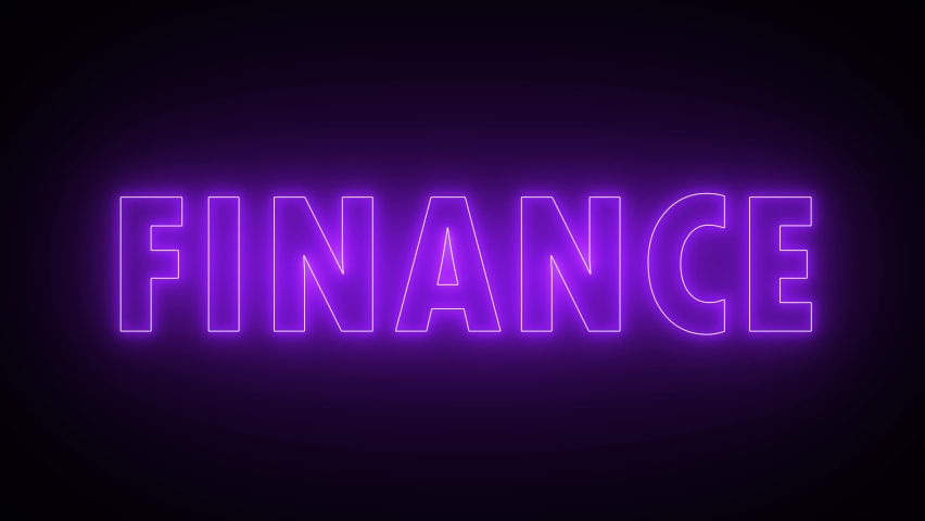 Finance neon sign banner background for promo video. Text neon lights animation promote advertising next business concept. | Shutterstock HD Video #1065614905